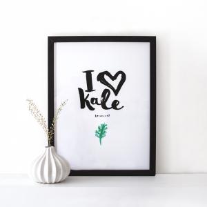 I love Kale print 1