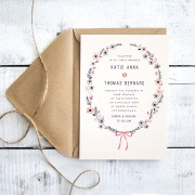 bows and blooms invite