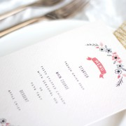 bows and blooms menu