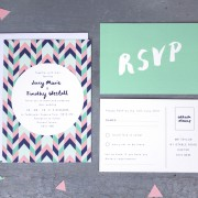 geometric love invite and RSVP