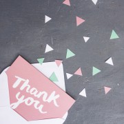 geometric thank you card